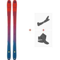 Ski Blizzard Zero G 95 Flat Blue 2020 + Fixations de ski randonnée + Peaux8A914200.002