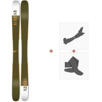 Ski Movement Fly Two 115 2020 + Fixations de ski randonnée + PeauxMOV-A-19027