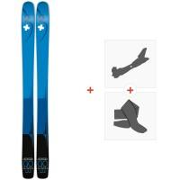 Ski Movement Go Titanal 100 2020 + Fixations de ski randonnée + PeauxMOV-A-19021