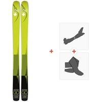 Ski Movement Go Titanal 109 2020 + Fixations de ski randonnée + PeauxMOV-A-19023