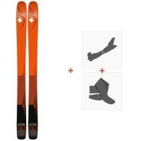 Ski Movement Go Titanal 115 2020 + Fixations de ski randonnée + PeauxMOV-A-19024