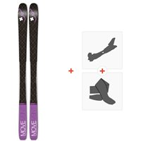 Ski Movement Session 85 W 2020 + Fixations de ski randonnée + PeauxMOV-A-19060