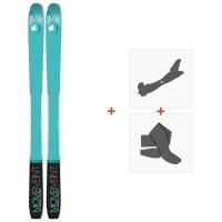 Ski Movement Vertex 84 W 2020 + Fixations de ski randonnée + PeauxMOV-A-19050