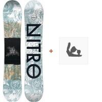 Snowboard Nitro Arial 2020 + Fixations de snowboard830465