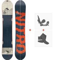 Snowboard Nitro Nomad Set 2020 + Fixations de splitboard + Peaux830419SET