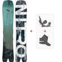 Sliptboard Nitro Squash Slipt Set 2020 + Fixations de splitboard + Peaux