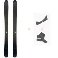 Ski Head Kore 105 Grey 2020 + Fixations de ski randonnée + Peaux