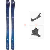 Ski Blizzard Black Pearl 88 Flat 2020 + Fixations de ski randonnée + Peaux8A913600.001