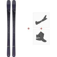 Ski Blizzard Brahma 82 Flat 2020 + Fixations de ski randonnée + Peaux8A910000.001