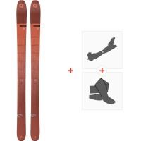 Ski Blizzard Cochise Flat 2020 + Fixations de ski randonnée + Peaux8A909200.001