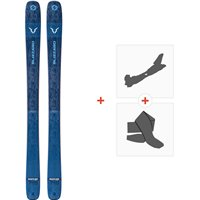 Ski Blizzard Rustler Team Flat 2020 + Fixations de ski randonnée + Peaux8A911400.001