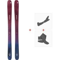 Ski Blizzard Sheeva 10 Flat 2020 + Fixations de ski randonnée + Peauxi8A911100.001