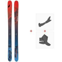 Ski Nordica Enforcer 100 Flat 2020 + Fixations de ski randonnée + Peaux0A911600.001