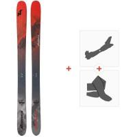 Ski Nordica Enforcer Free 110 Flat 2020 + Fixations de ski randonnée + Peaux0A911200.001
