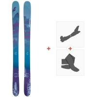 Ski Nordica Santa Ana 100 Flat 2020 + Fixations de ski randonnée + Peaux0A912400.001