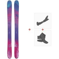 Ski Nordica Santa Ana 110 Flat 2020 + Fixations de ski randonnée + Peaux0A912200.001