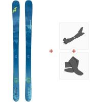 Ski Nordica Santa Ana 88 Flat 2020 + Fixations de ski randonnée + Peaux0A912800.001