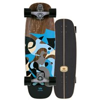 "Surf Skate Carver Blue Ray 30"" 2020 - Complete"