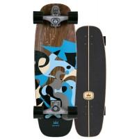 "Surf Skate Carver Blue Ray 30"" 2020 - Complete"