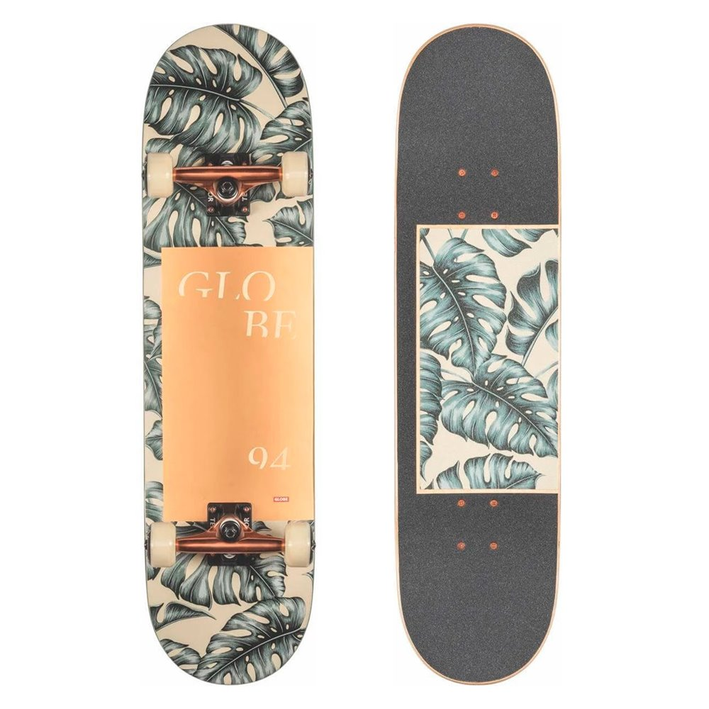 Skateboard Globe G2 Mod Log 8.25'' - Hurricane Leaves - Complete 2020