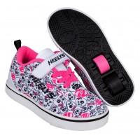 Heelys Chaussures X2 Pro 20 X2 White/Black/Hot Pink/Skulls 2020