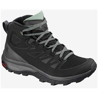 Salomon Shoes Outline Mid GTX W Black/Mgnt/Green 2020