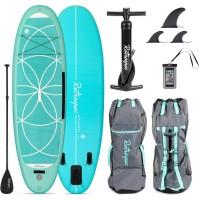 Retrospec Weekender-Yogi 10' Inflatable Paddle Board Seafoam 2020