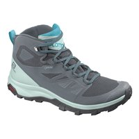 Salomon Shoes Outline Mid GTX W Stormy Weather/Icy Morn/Bluebird 2020