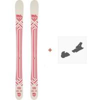 Ski Black Crows Junius Birdie 2021 + Fixations de ski36617